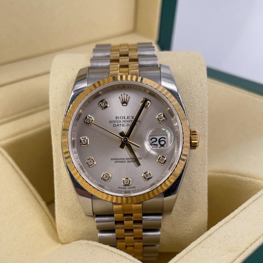 ساعة رولكس ديت جست الأصلية الثمينة مستخدمة 116233