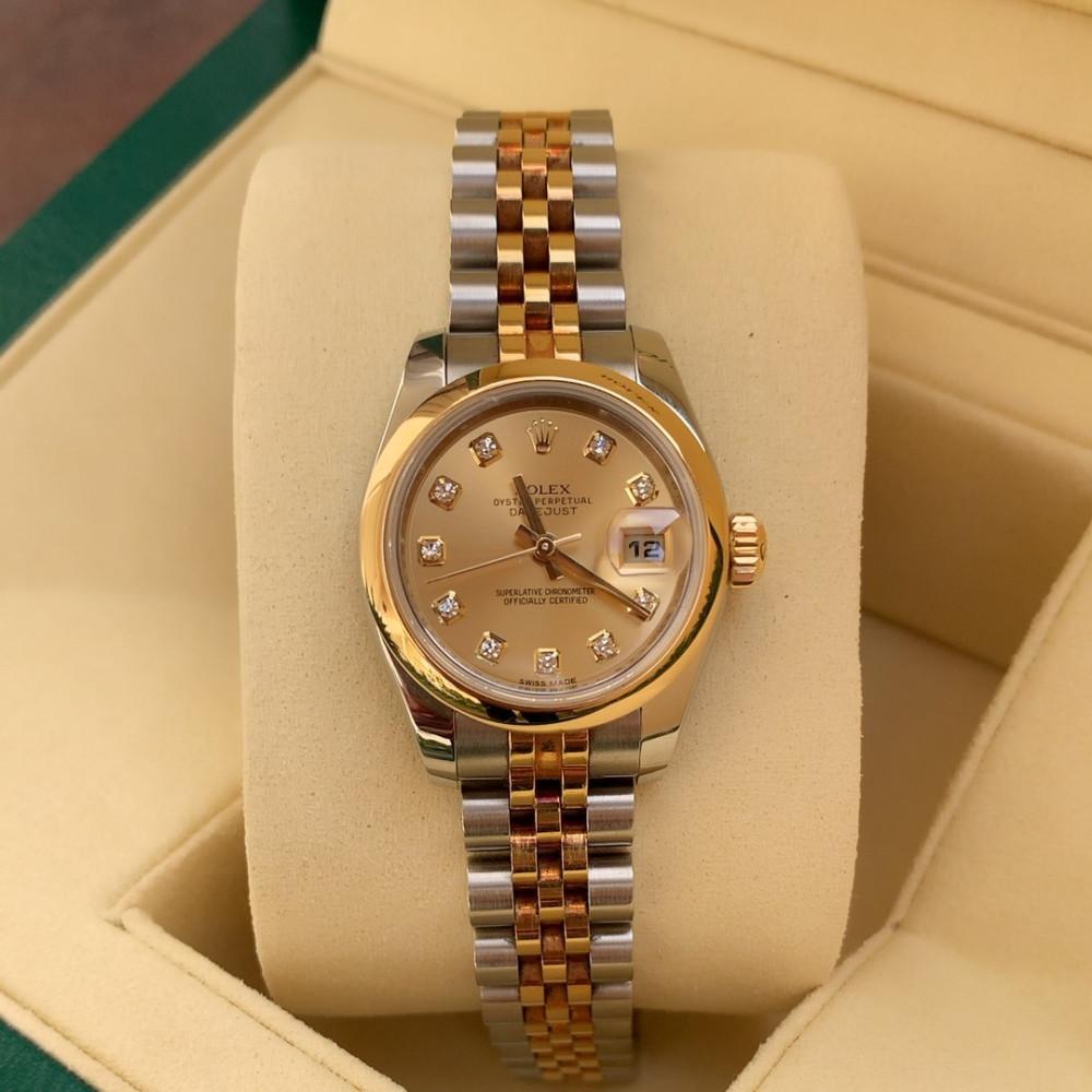 ساعة رولكس ديت جست الأصلية الثمينة مستخدمة 179173