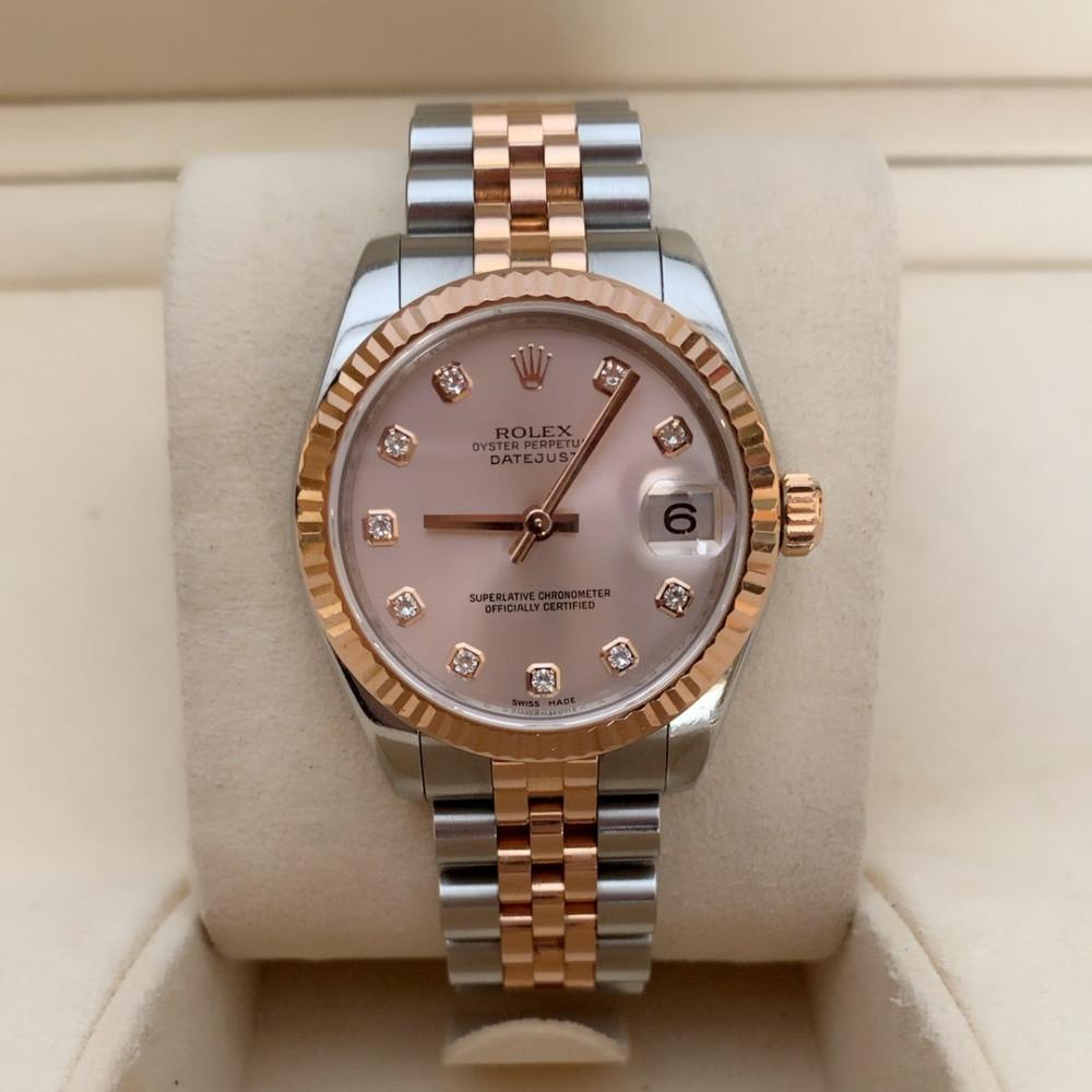ساعة رولكس ديت جست الأصلية الثمينة مستعمله 178271