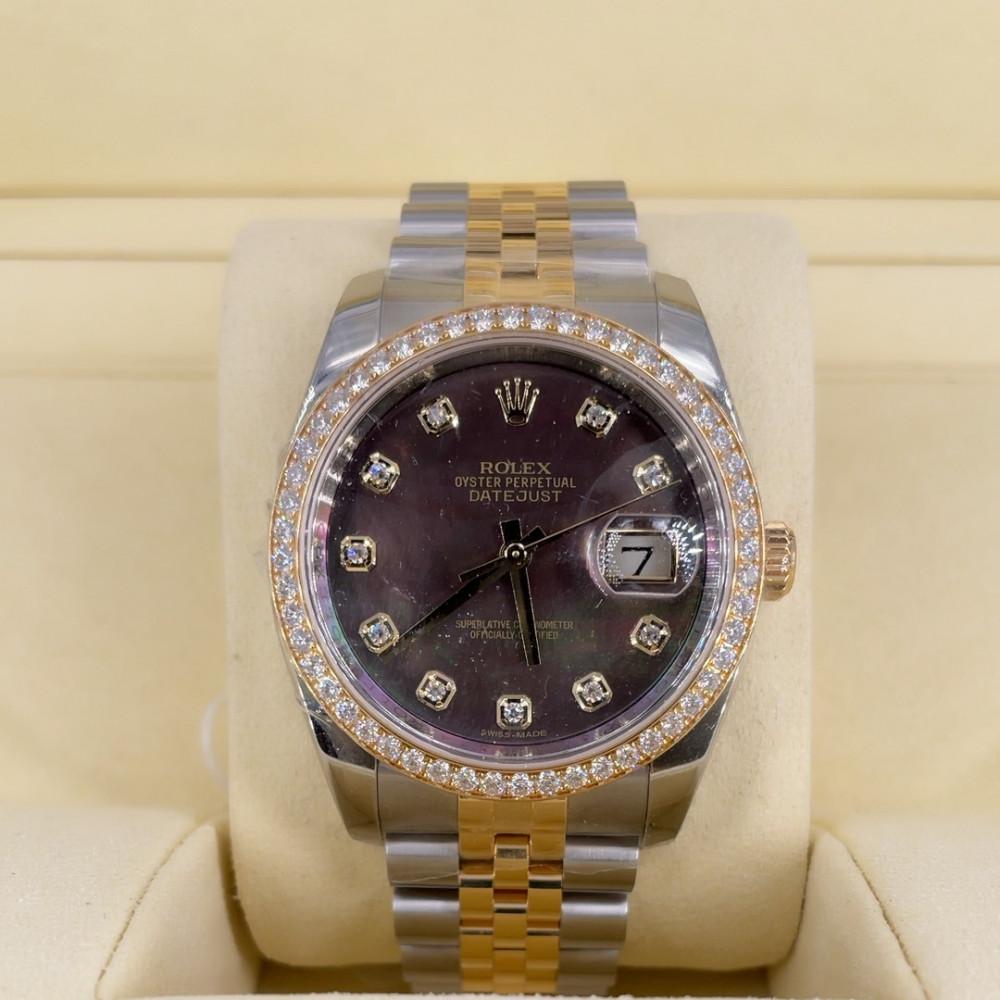 ساعة رولكس ديت جست الأصلية الفاخرة مستعملة 116243