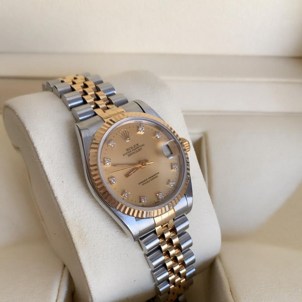 ساعة رولكس ديت جست الأصلية الثمينة مستخدمة 68273