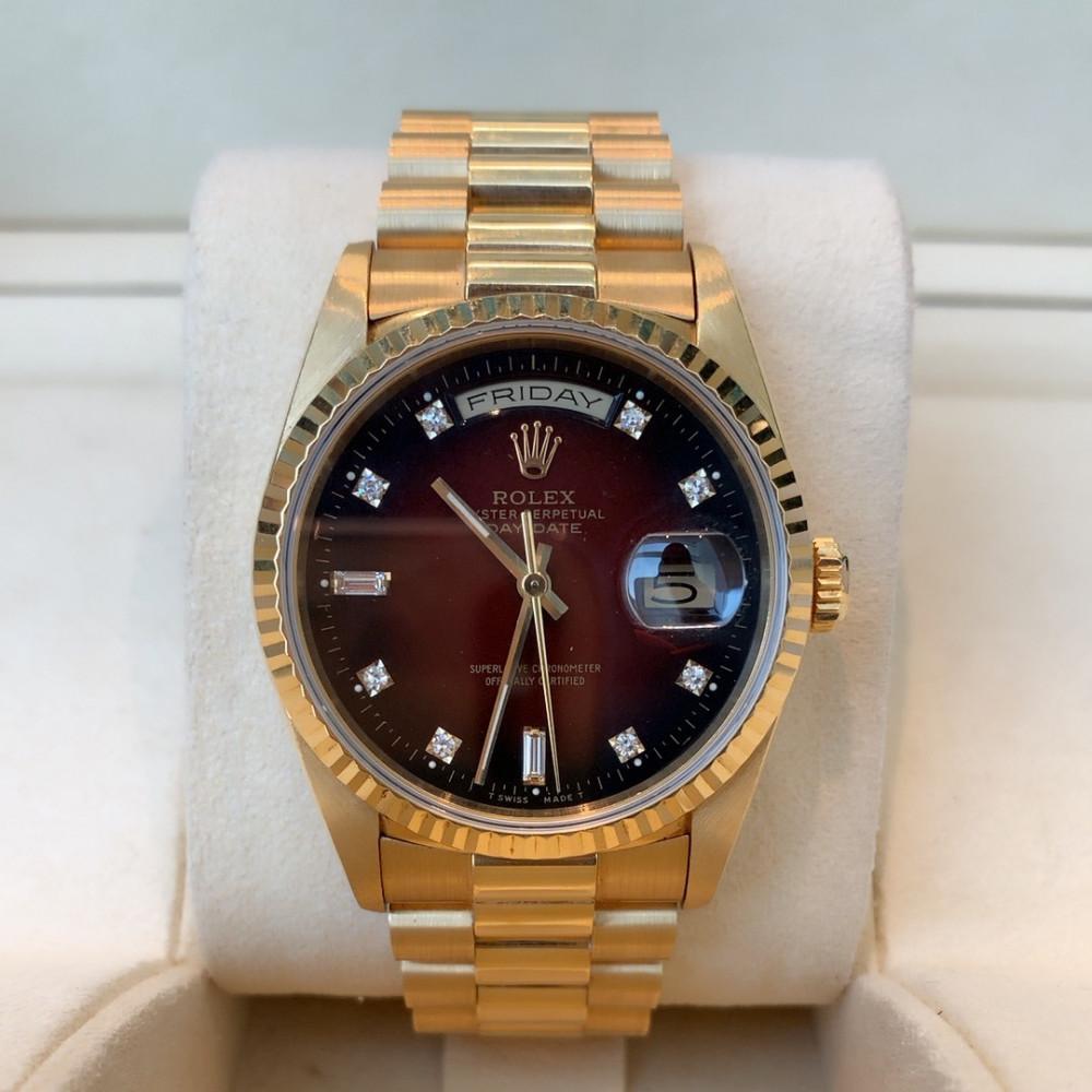 ساعة رولكس داي ديت بريزيدنت الأصلية الثمينة