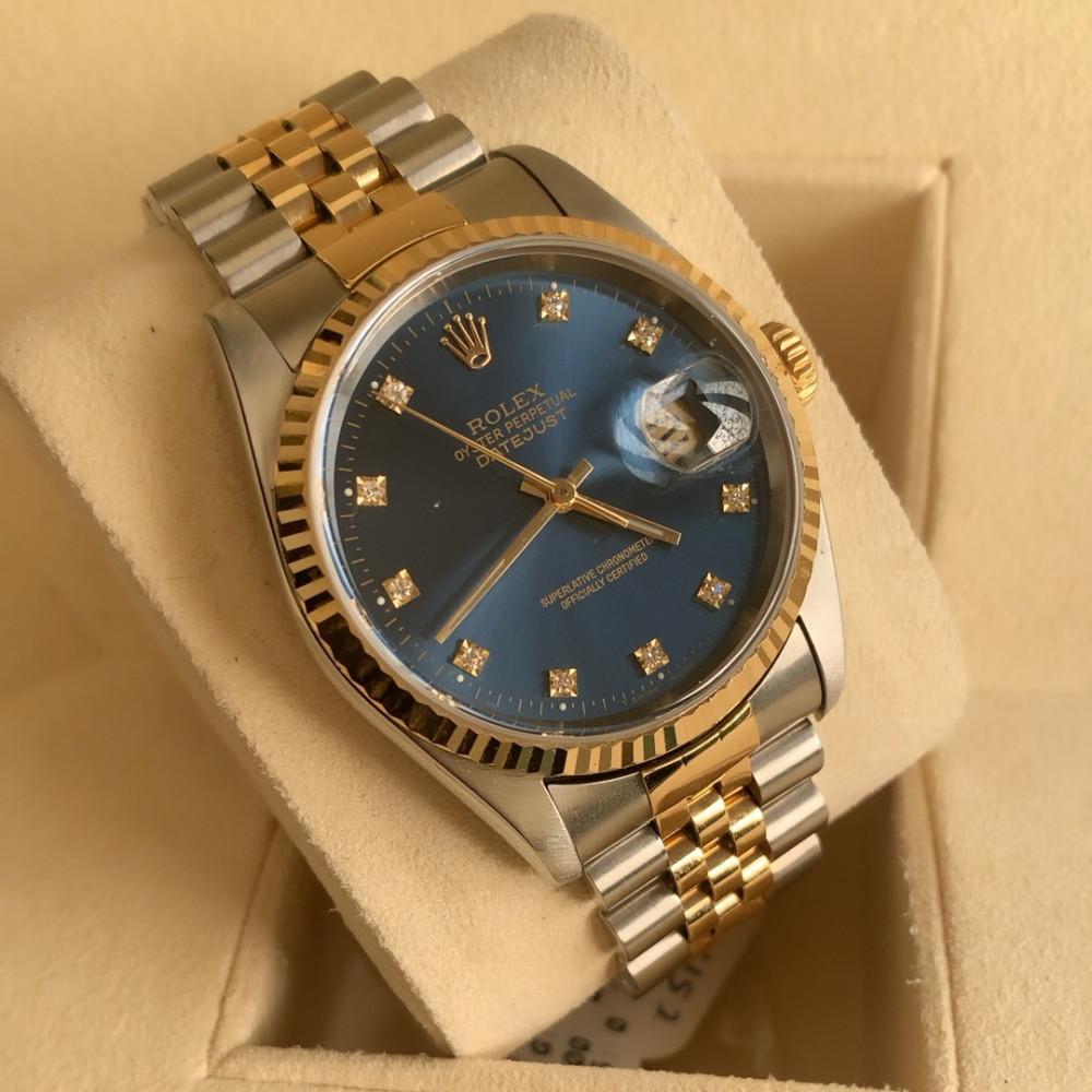 ساعة رولكس ديت جست الأصلية الثمينة مستخدمة 16233
