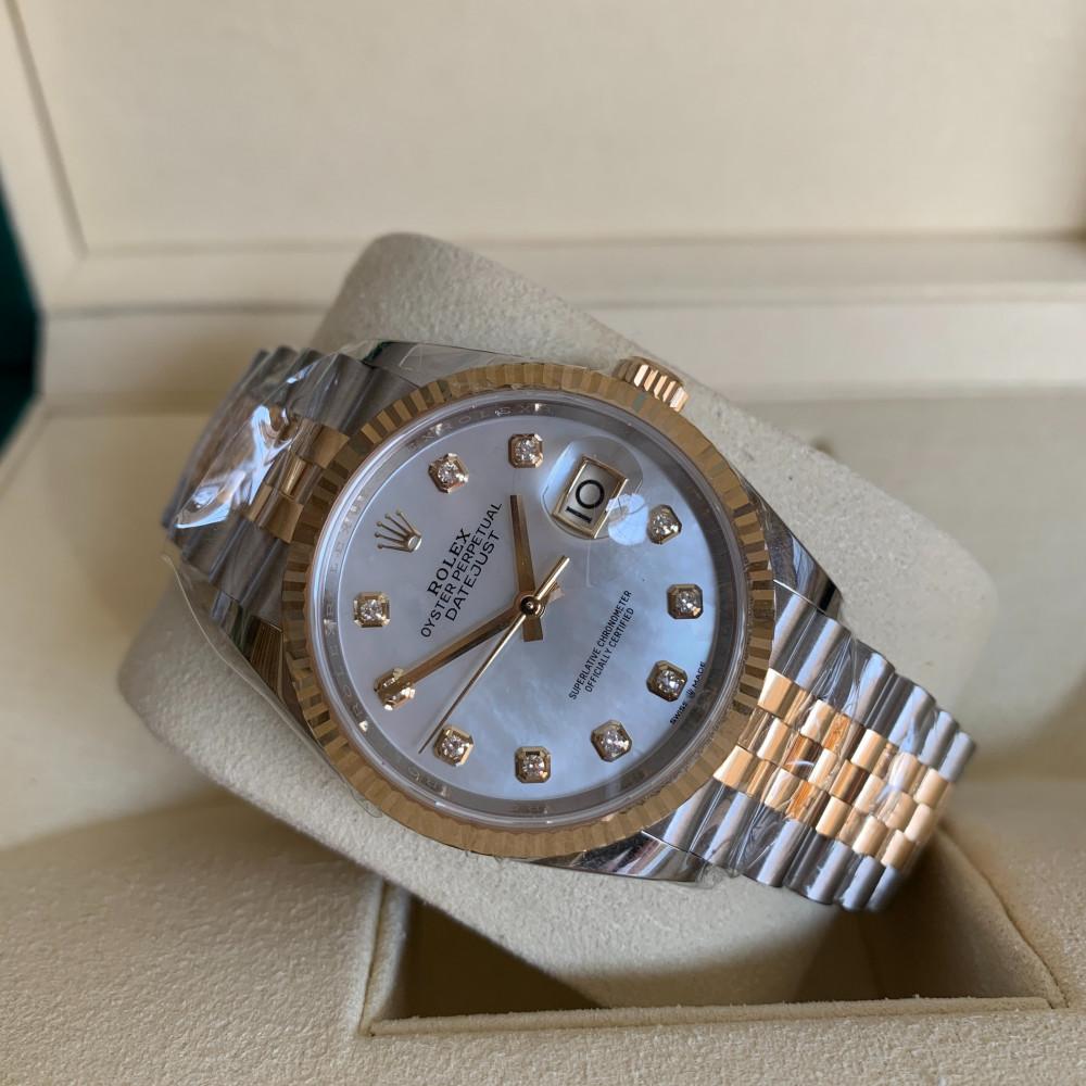 ساعة رولكس ديت جست الأصلية الفاخرة جديدة تماما 126233