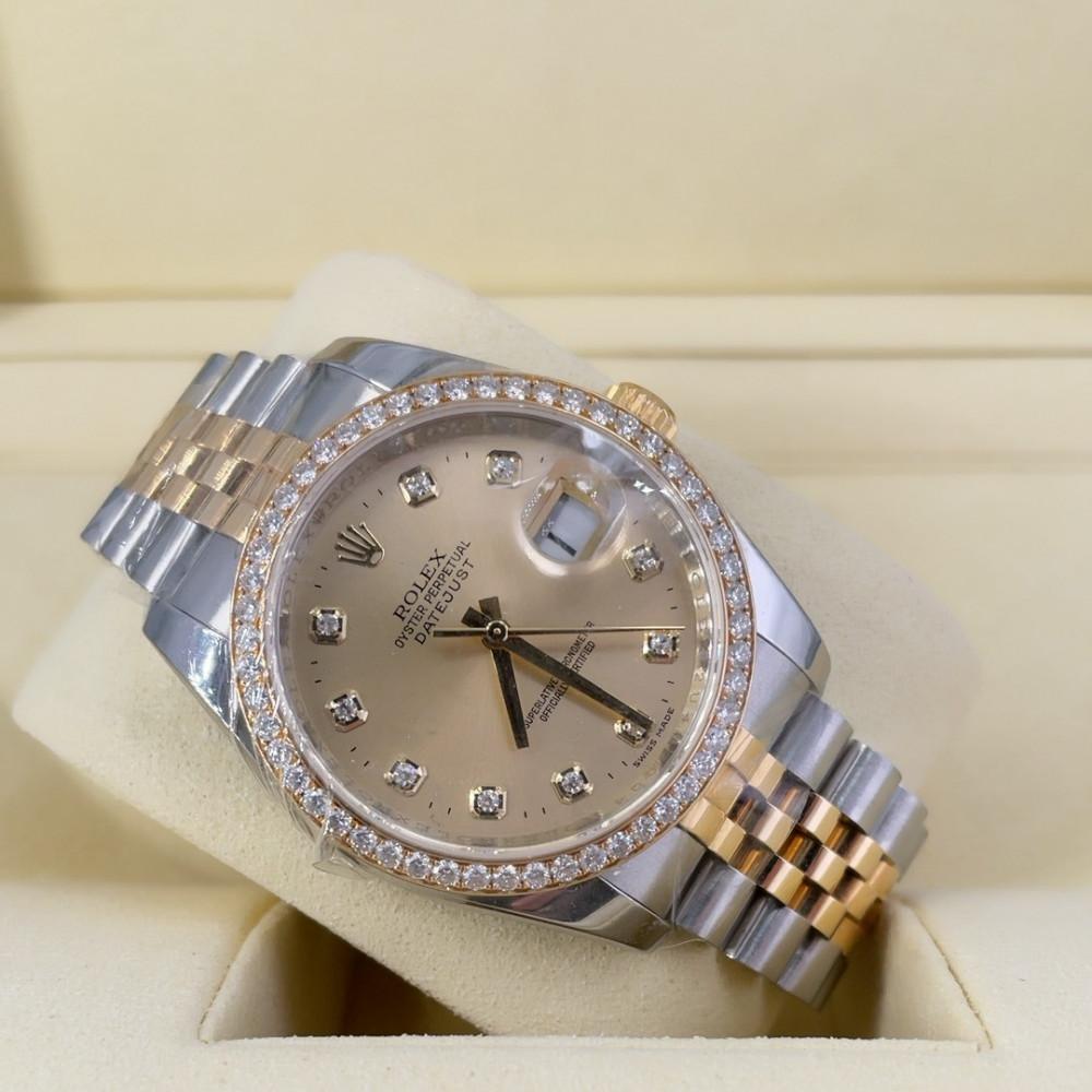 ساعة rolex ديت جست الأصلية الفاخرة مستعملة 116243