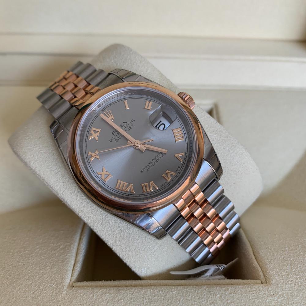 ساعة رولكس ديت جست الأصلية الثمينة جديدة 116201