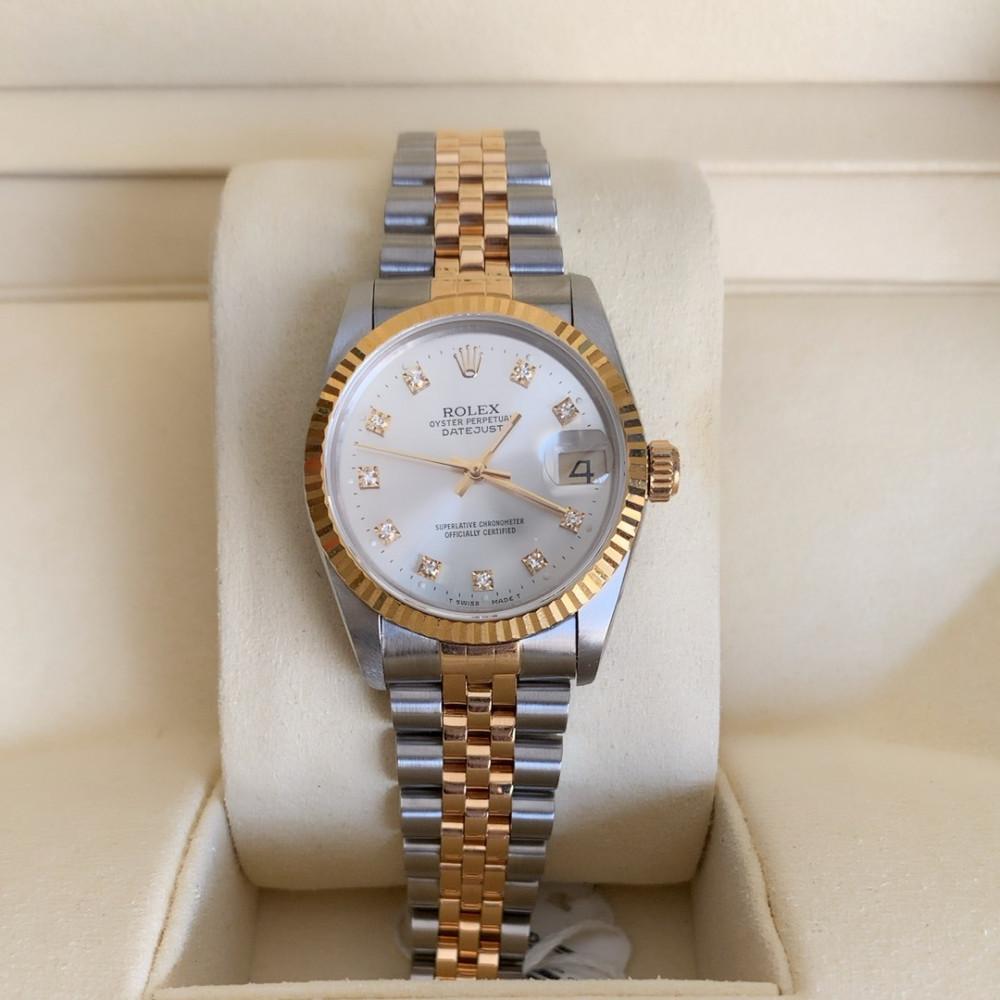 ساعة رولكس ديت جست الأصلية الفاخرة مستخدمة 68273