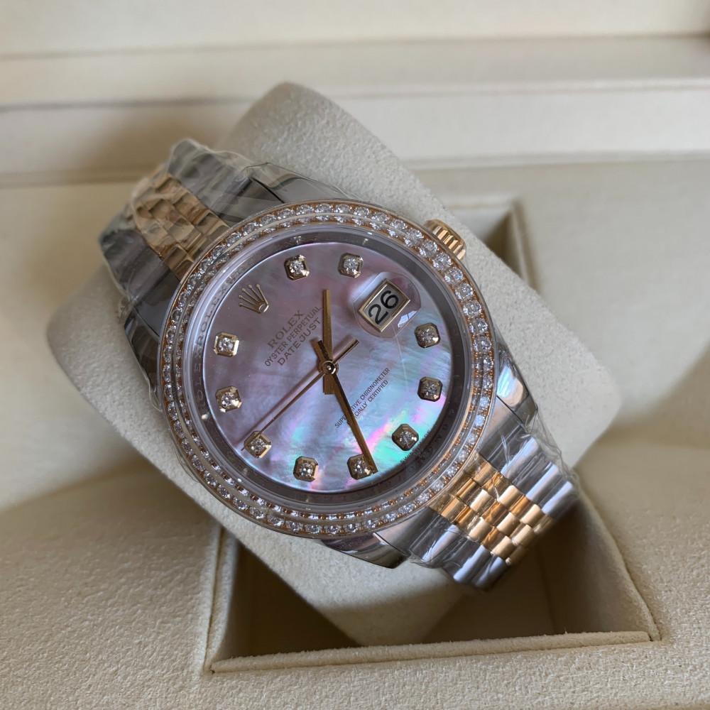 ساعة رولكس ديت جست الأصلية الفاخرة جديدة تماما 116243