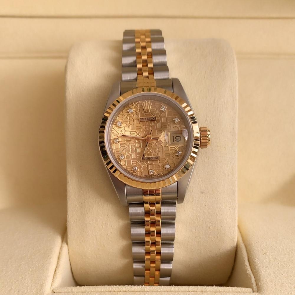 ساعة رولكس ديت جست الأصلية الثمينة مستعملة 69173