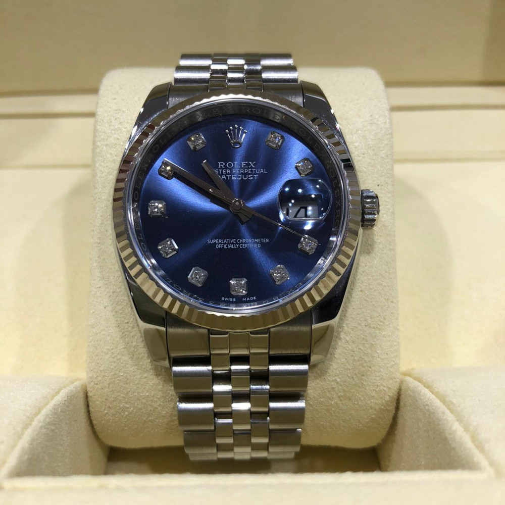 ساعة rolex ديت جست الأصلية الفاخرة مستعملة 116234