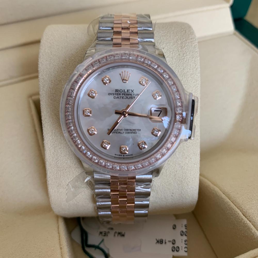 ساعة رولكس ديت جست الأصلية الثمينة جديدة كليا 278381