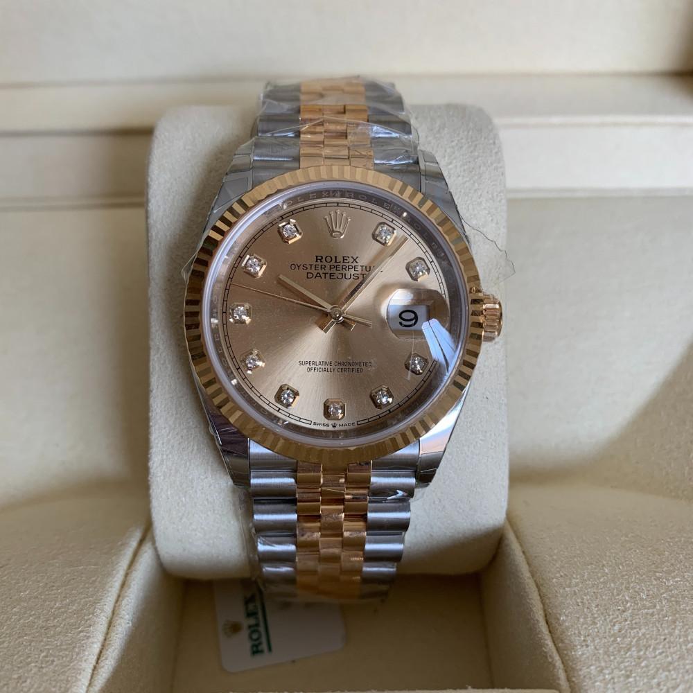 ساعة رولكس ديت جست الأصلية الثمينة جديدة كليا 126233