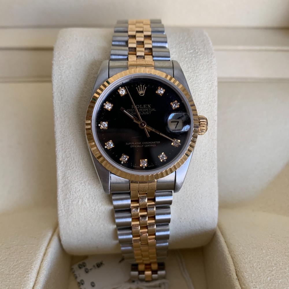 ساعة رولكس ديت جست الأصلية الثمينة مستعمل 68273