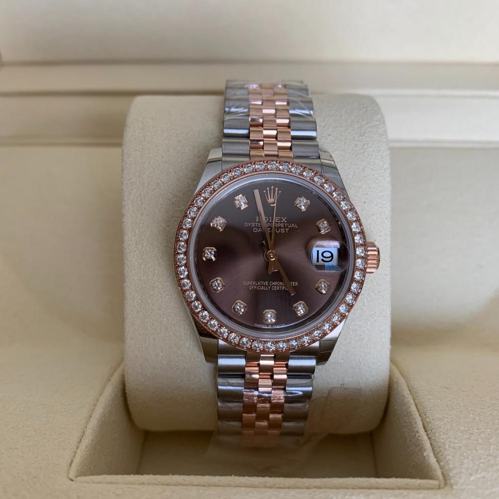 ساعة رولكس ديت جست الأصلية الفاخرة جديدة كليا 278381