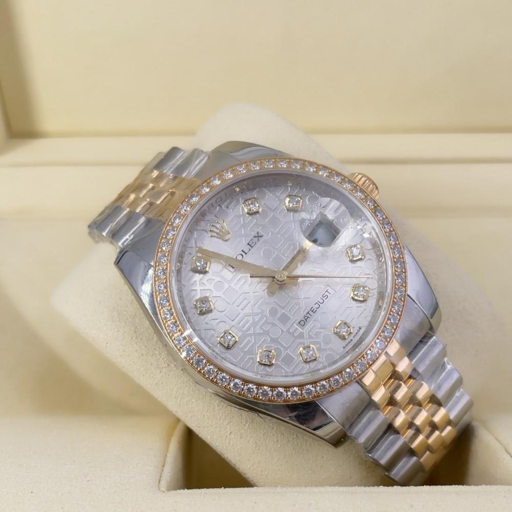 ساعة رولكس ديت جست الأصلية الثمينة مستخدمة 116243