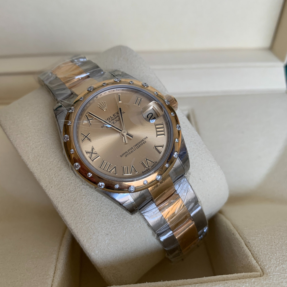 ساعة رولكس ديت جست الأصلية الثمينة جديدة كليا 178343