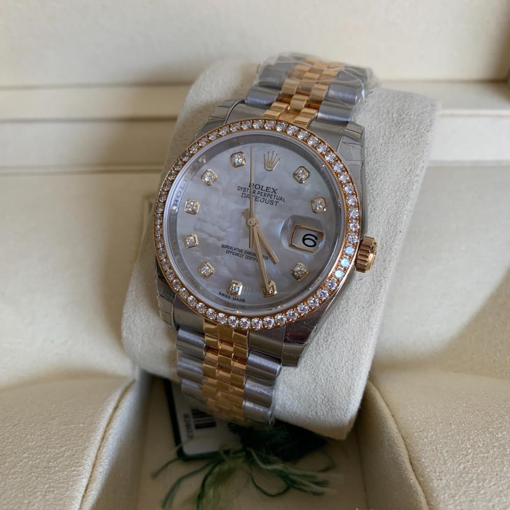 ساعة رولكس ديت جست الأصلية الثمينة جديدة كليا 116243