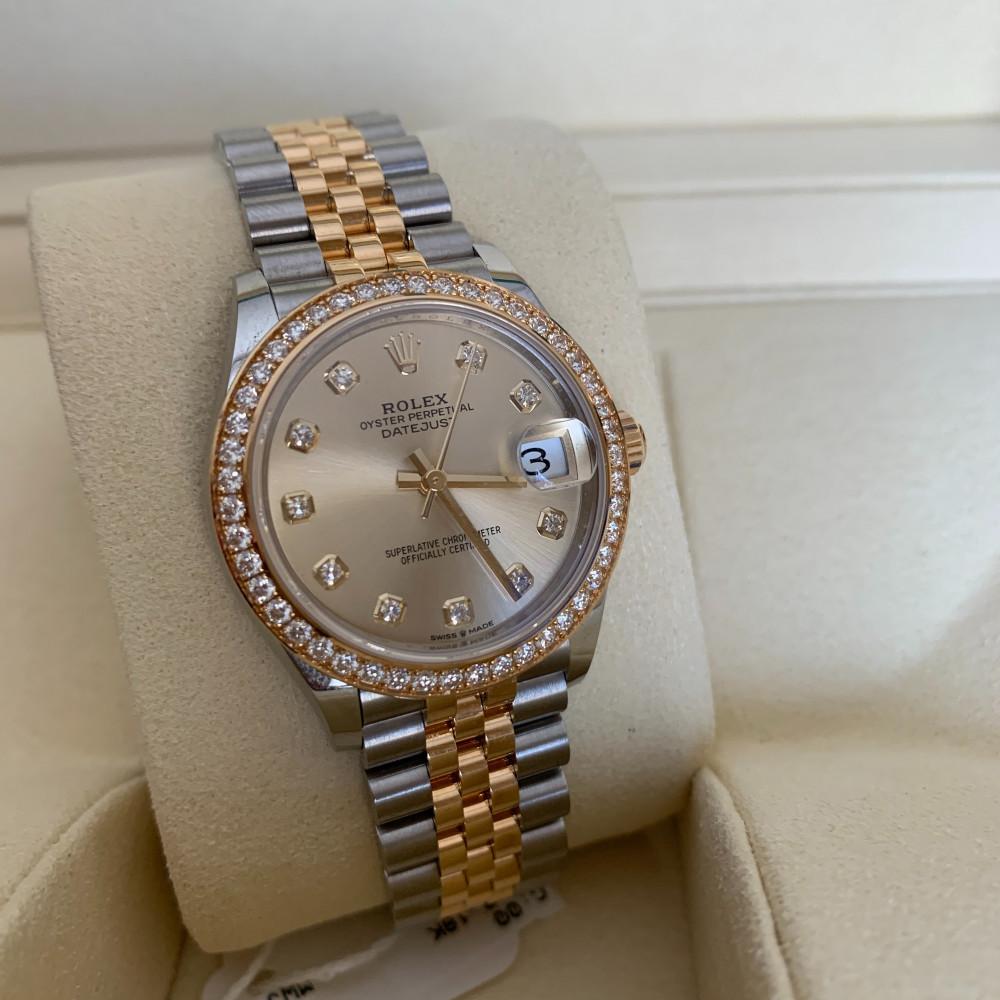 ساعة Rolex ديت جست الأصلية الفاخرة جديدة كليا 278383
