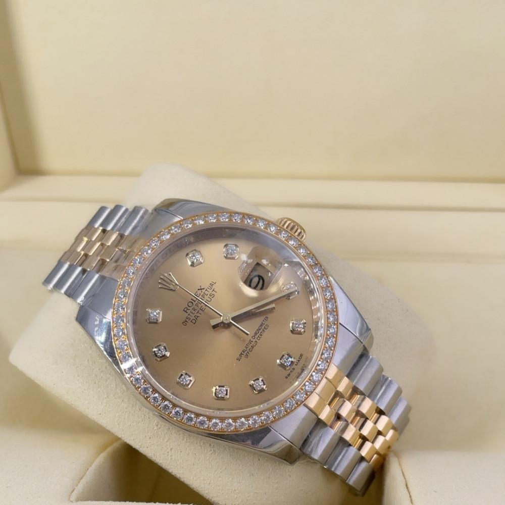 ساعة rolex ديت جست الأصلية الثمينة مستعملة 116243