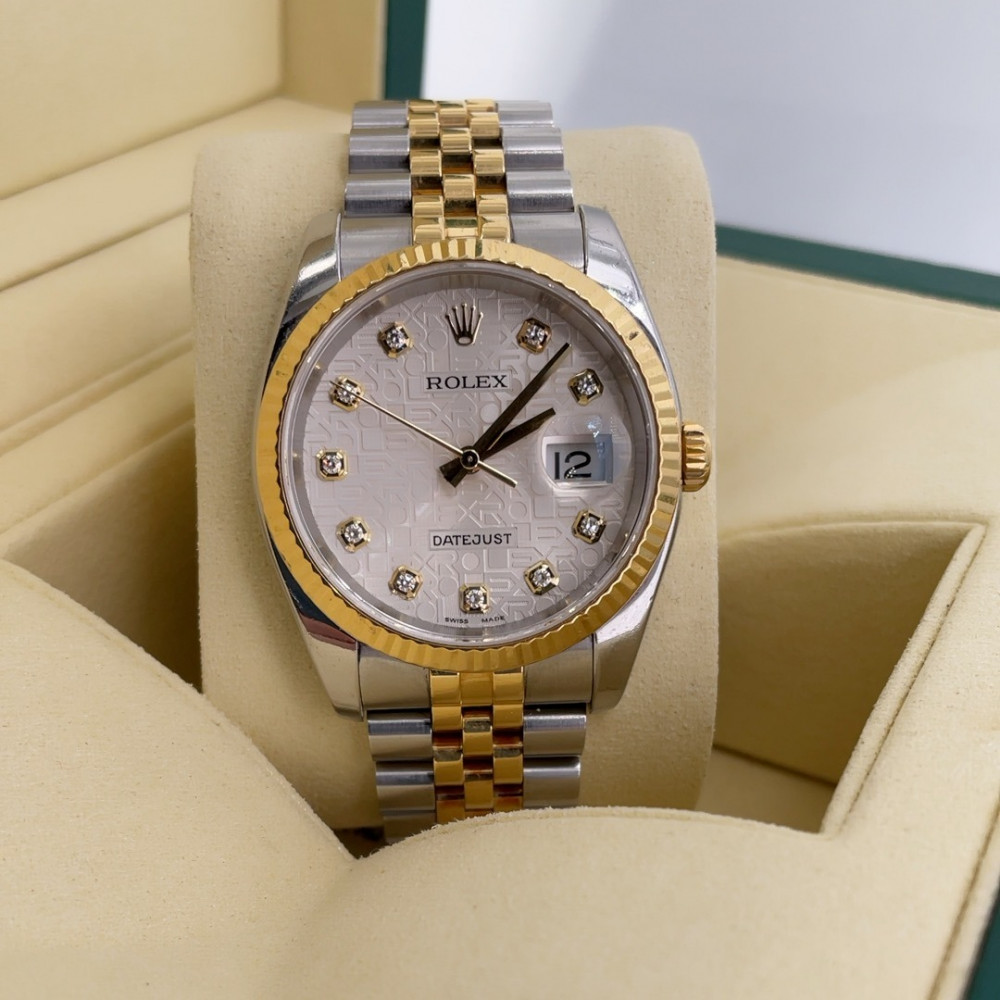 ساعة rolex ديت جست الأصلية الثمينة مستخدمة 116233