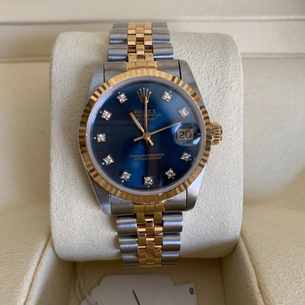 ساعة رولكس ديت جست الأصلية الفاخرة مستعمل 68273