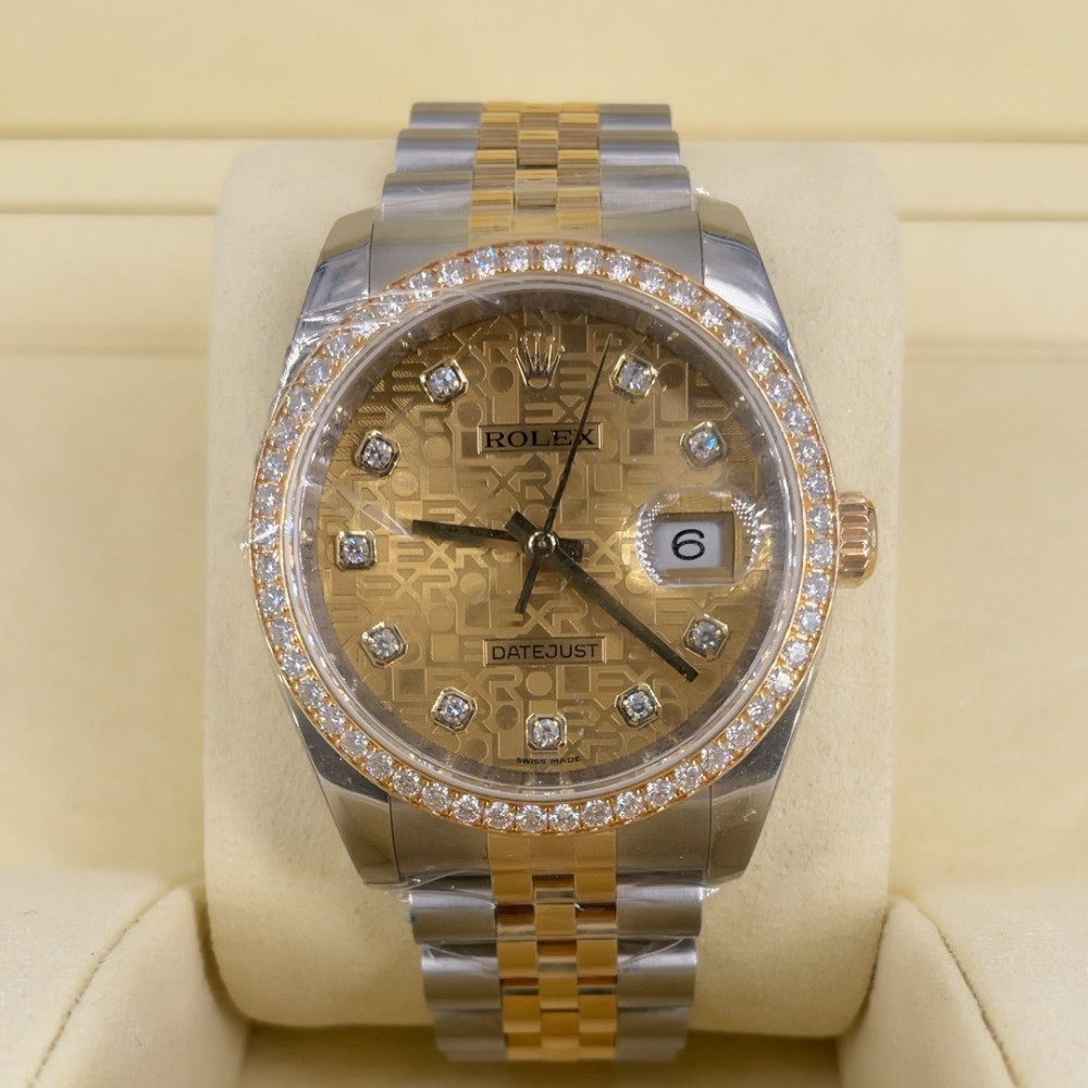 ساعة رولكس ديت جست الأصلية الثمينة مستعملة 116243