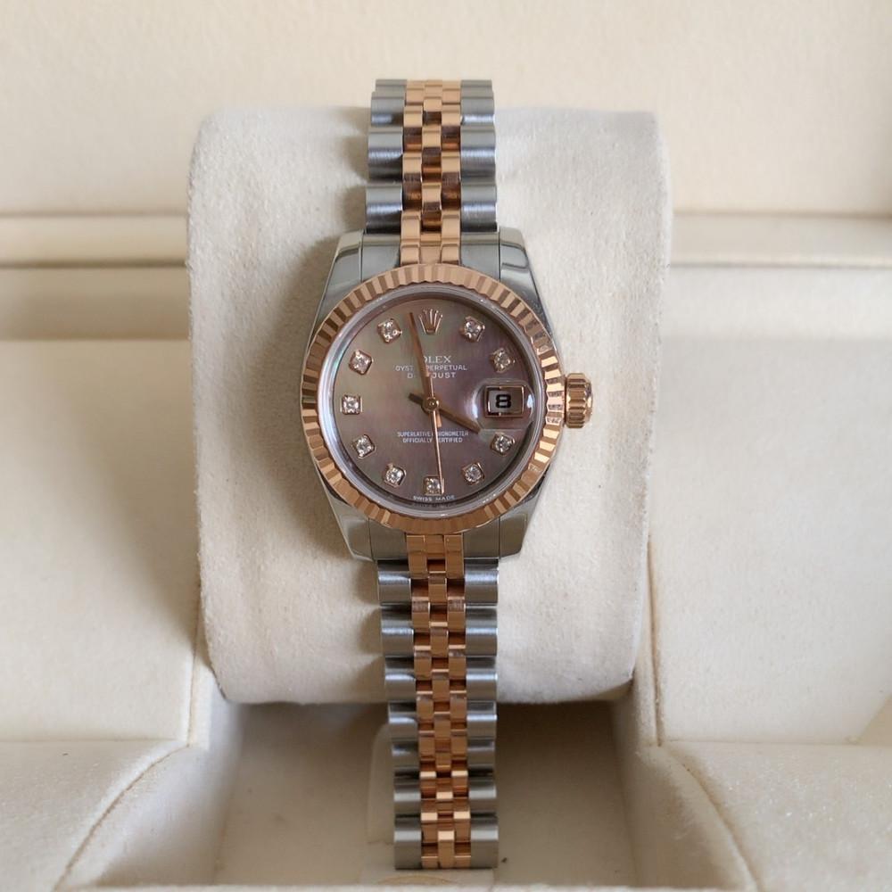ساعة رولكس ديت جست الأصلية الفاخرة مستعمله 179171