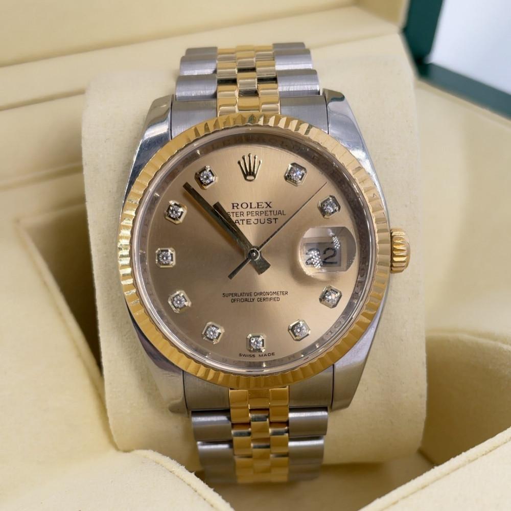 ساعة رولكس ديت جست الأصلية الفاخرة مستخدمة 116233