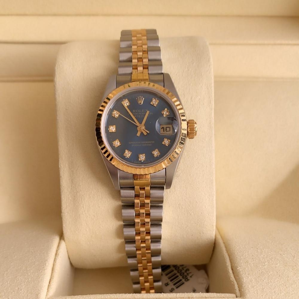 ساعة رولكس ديت جست الأصلية الثمينة مستعمل 69173