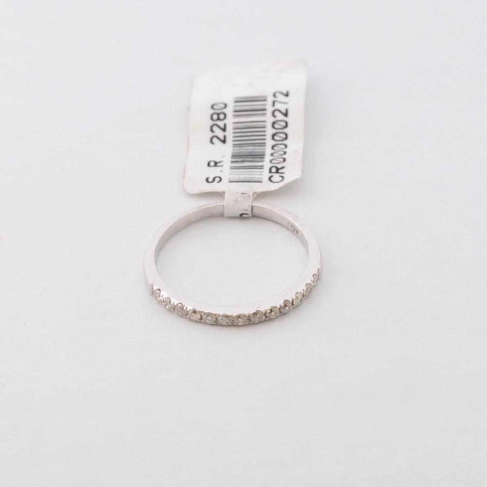خاتم ذهب أبيض مع ألماس