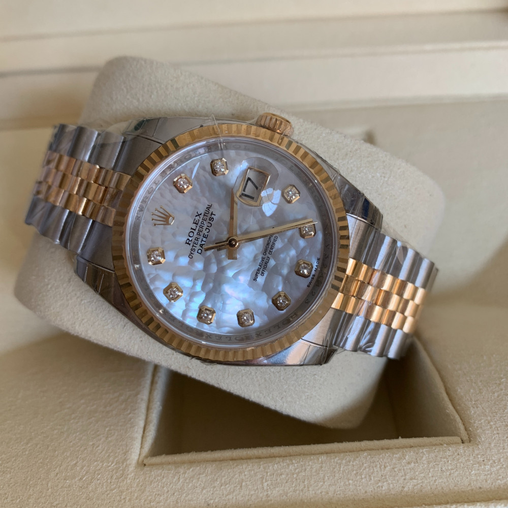 ساعة رولكس ديت جست الأصلية الثمينة جديدة تماما 116233