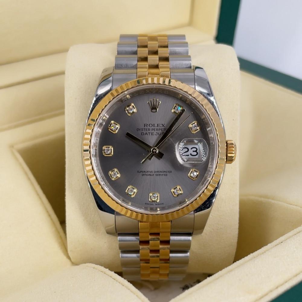 ساعة رولكس ديت جست الأصلية الفاخرة مستعملة 116233