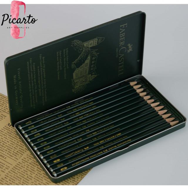 فيبر كاستل ـ 12 قلم رصاص 9000 - بيكارتو  12 قلم رصاص فيبر كاستل 9000 م
