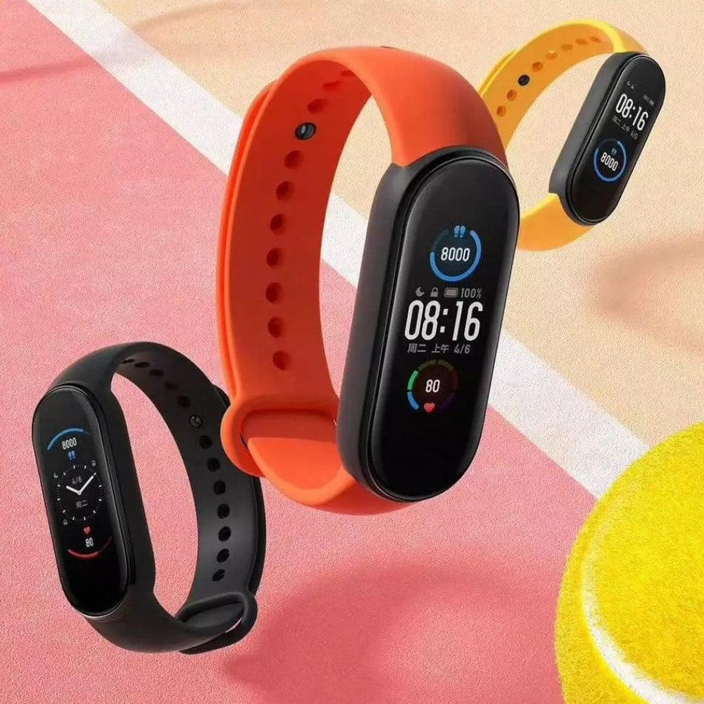 ساعة شاومي Band 5 الذكية بشاشة لمس ملونة لتتبع اللياقة البدنية