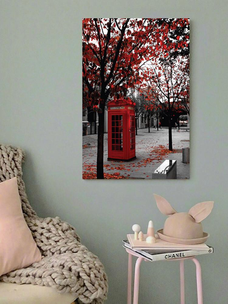 لوحة كبينة التليفون خشب ام دي اف مقاس 40x60 سنتيمتر