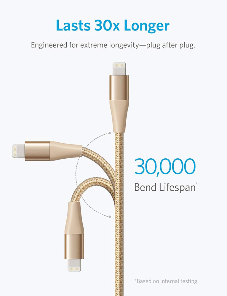 Anker Powerline Plus II Lightning Cable Gold