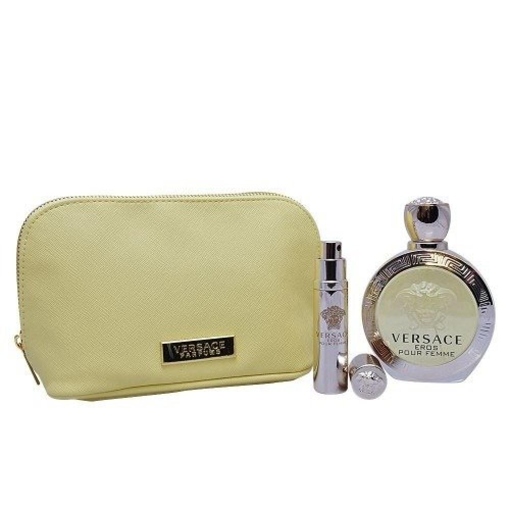 Versace Eros Pour Femme Eau de Toilette 100mll 3 Gift Set خبير العطور