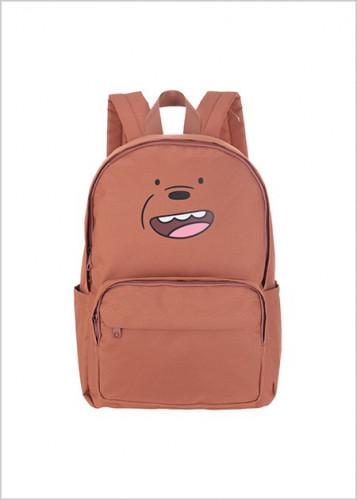 حقيبة ظهر من سلسة الدببة الثلاثة بني We Bare Bear ميني سو Miniso حب الحياة حب ميني سو تسوق واحصل علي افضل الاسعار