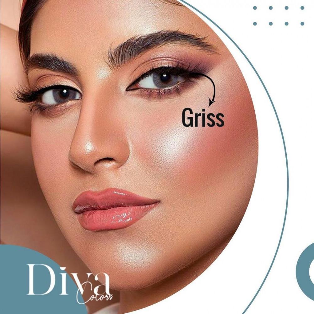 عدسات ديفا جريس Diva Gris عدسات لاصقه شفافه وملونه يوميه وشهريه من أفضل الماركات العالميه