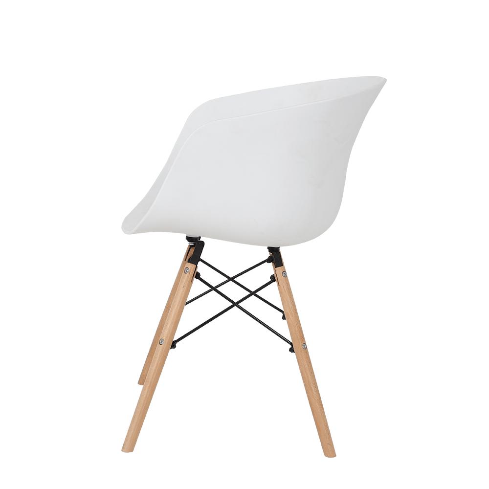 زاوية جانبية للكرسي بشكل أنيق ومميز مواسم من طقم كراسي أبيض NEAT HOME