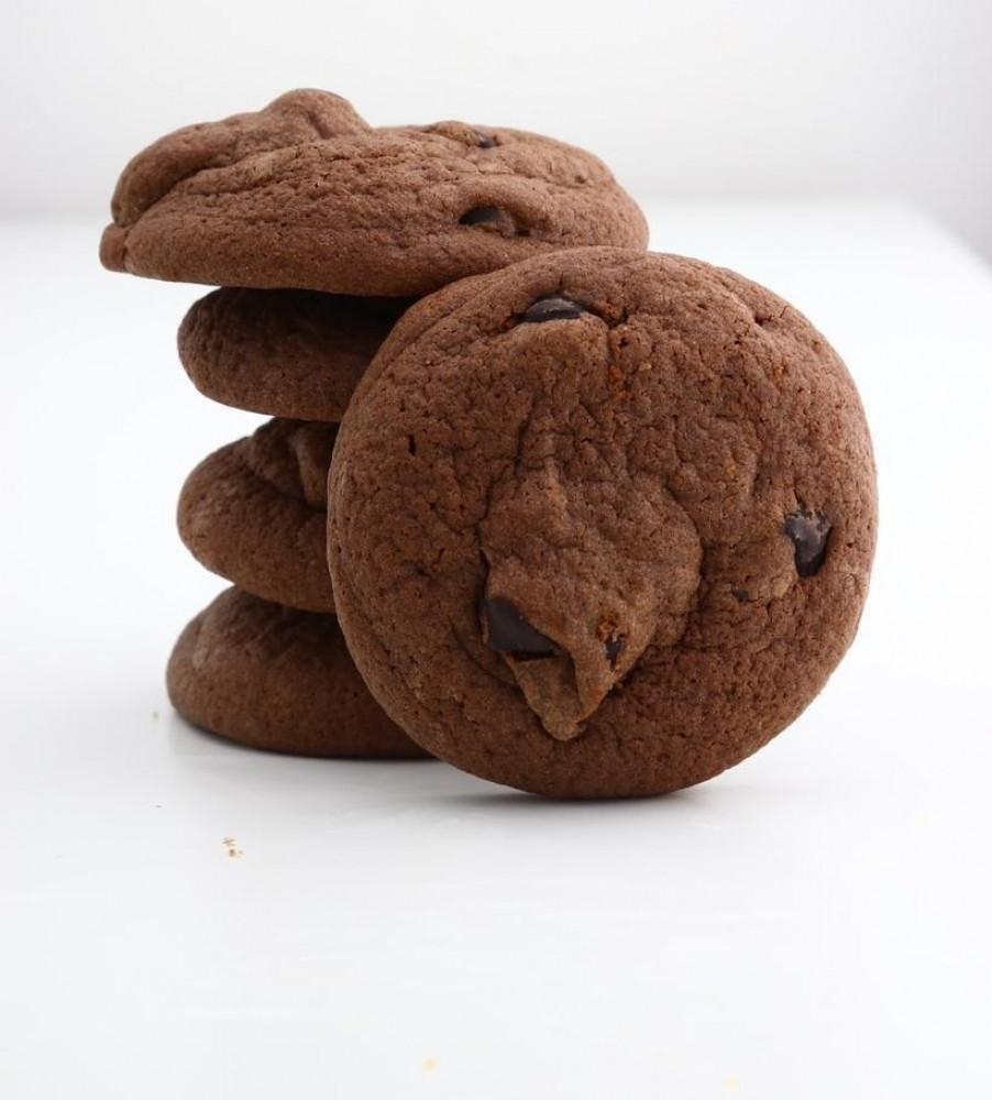 كوكيز سلال برقائق الشوكولاته البلجيكية  عبوة كوكيز شوكولاته وزن 500 جم