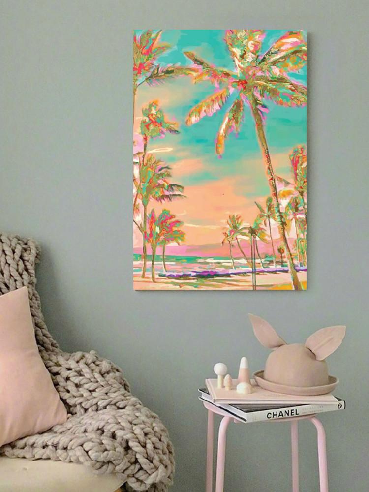 لوحة شاطئ هاواي خشب ام دي اف مقاس 40x60 سنتيمتر
