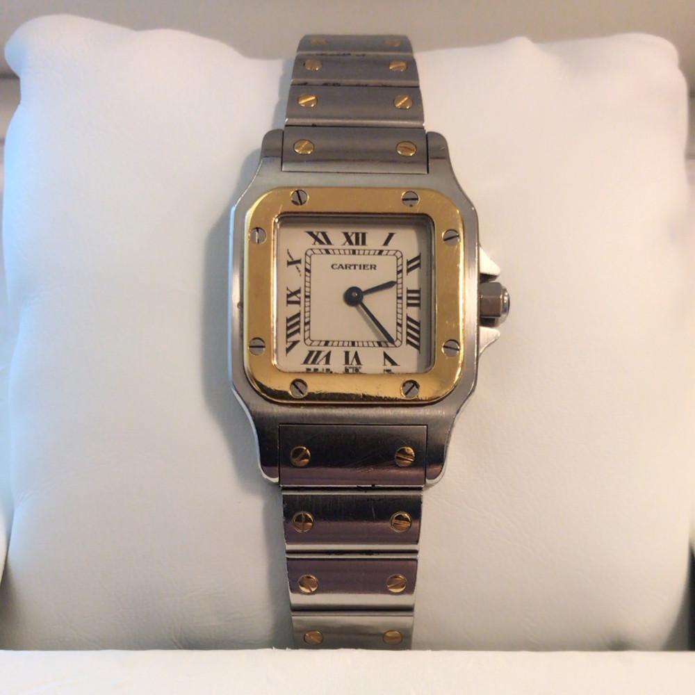 ساعة كارتير سانتوس الأصلية الثمينة مستخدمة