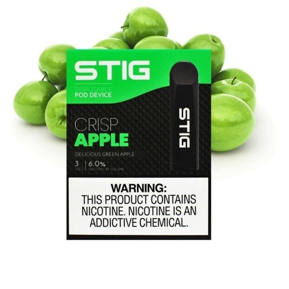 سحبة سيجارة جاهزة ستيج تفاح أخضر STIG Crisp Apple