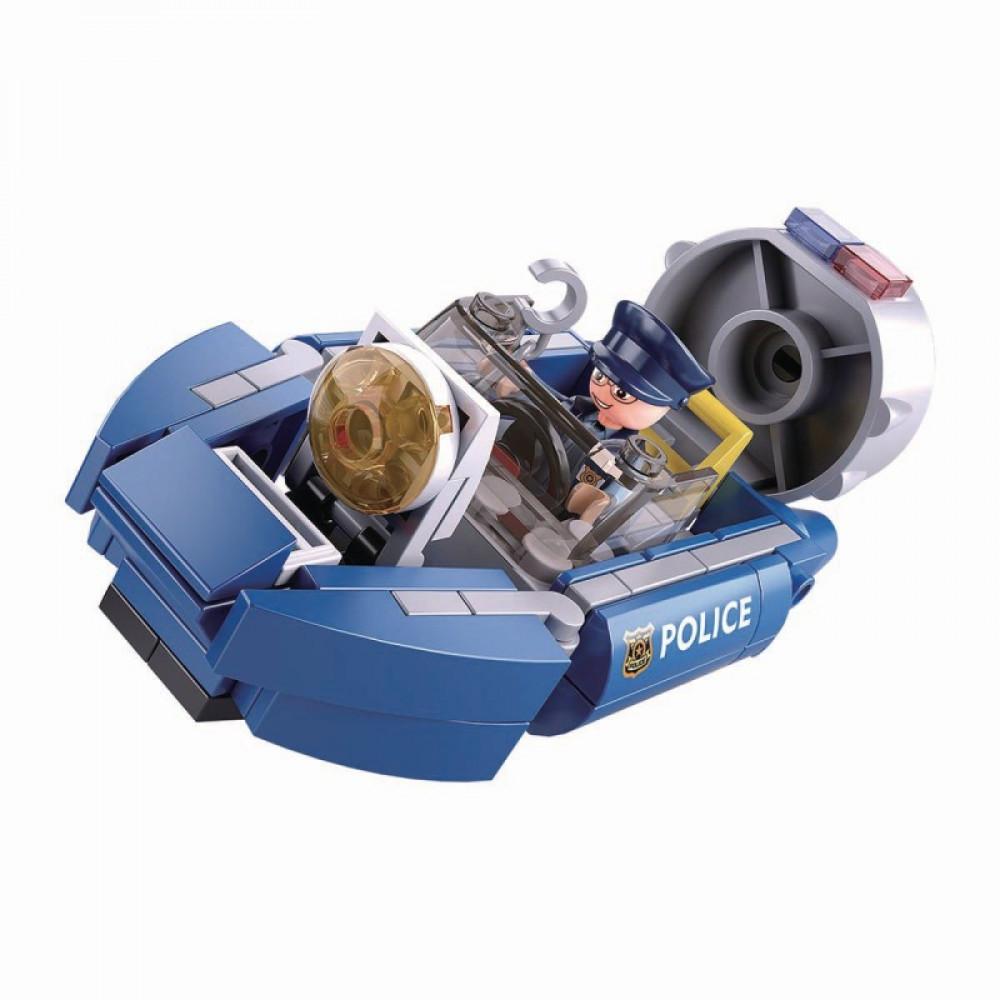 سلوبان, قطع تركيب بلاستيك, قارب بوليس, ألعاب, Police, Sluban