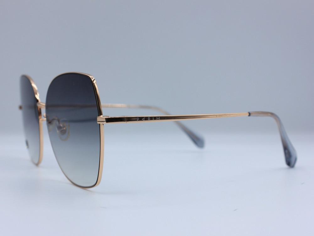 نظارة شمسية ماركة PARIM نسائية لون العدسة رمادي مدرج لون الإطار نحاسي