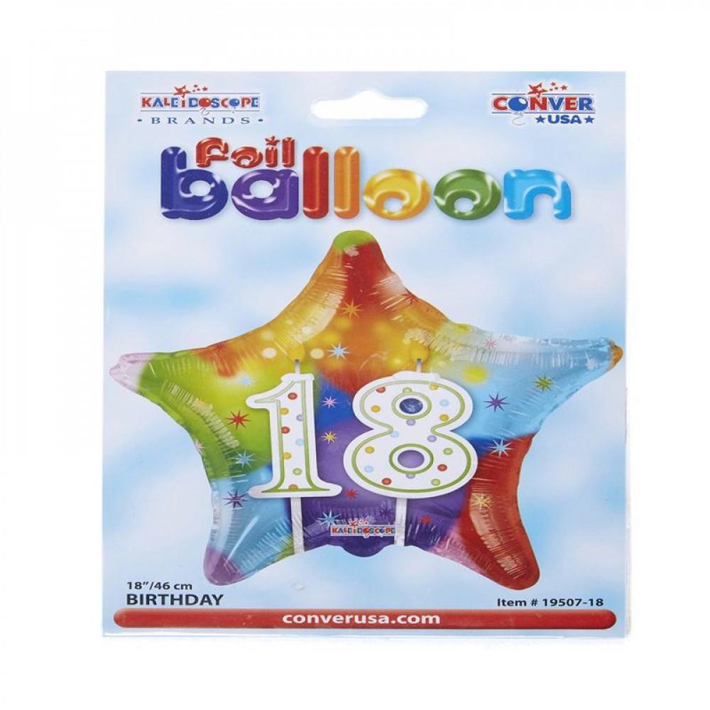 بالون عيد ميلاد 18, بلونات أشكال, 18th Birthday Balloon