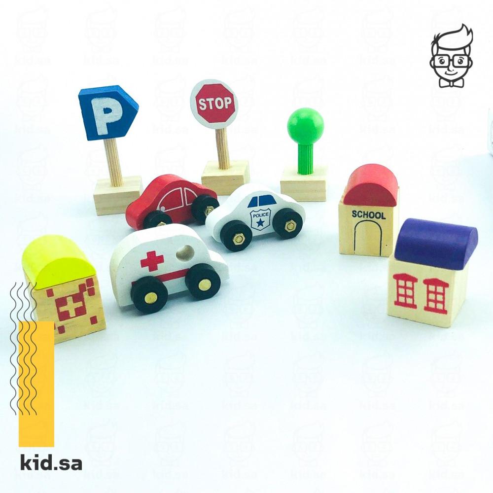 لعبة علامات المرور للاطفال خشبية