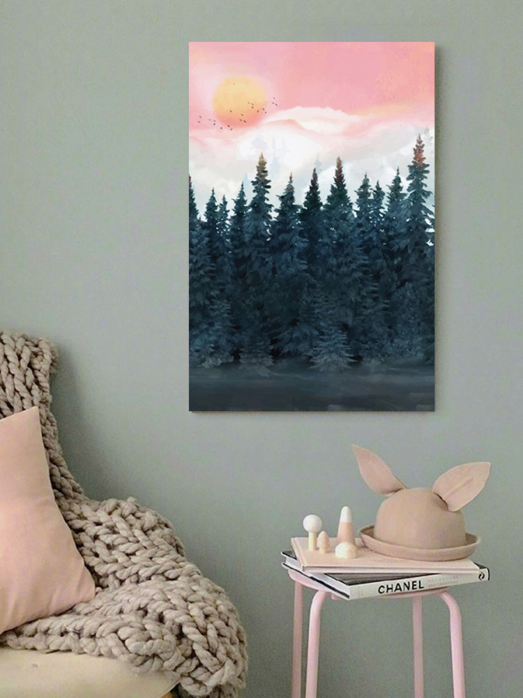 لوحة الغابة خشب ام دي اف مقاس 40x60 سنتيمتر
