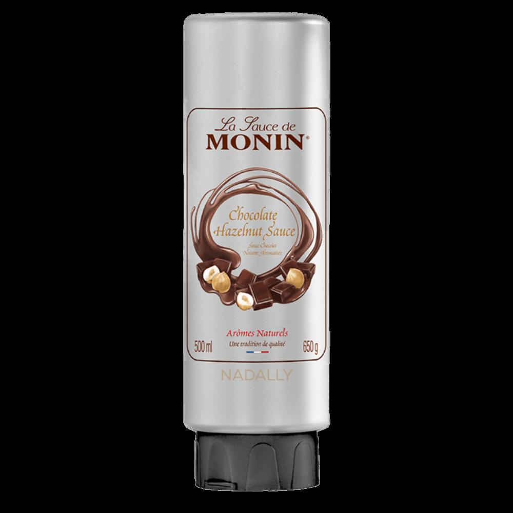 صوص الشوكولاتة بالبندق من مونين للمشروبات الباردة والساخنة والقهوة ندالي متجر كبسولات القهوة